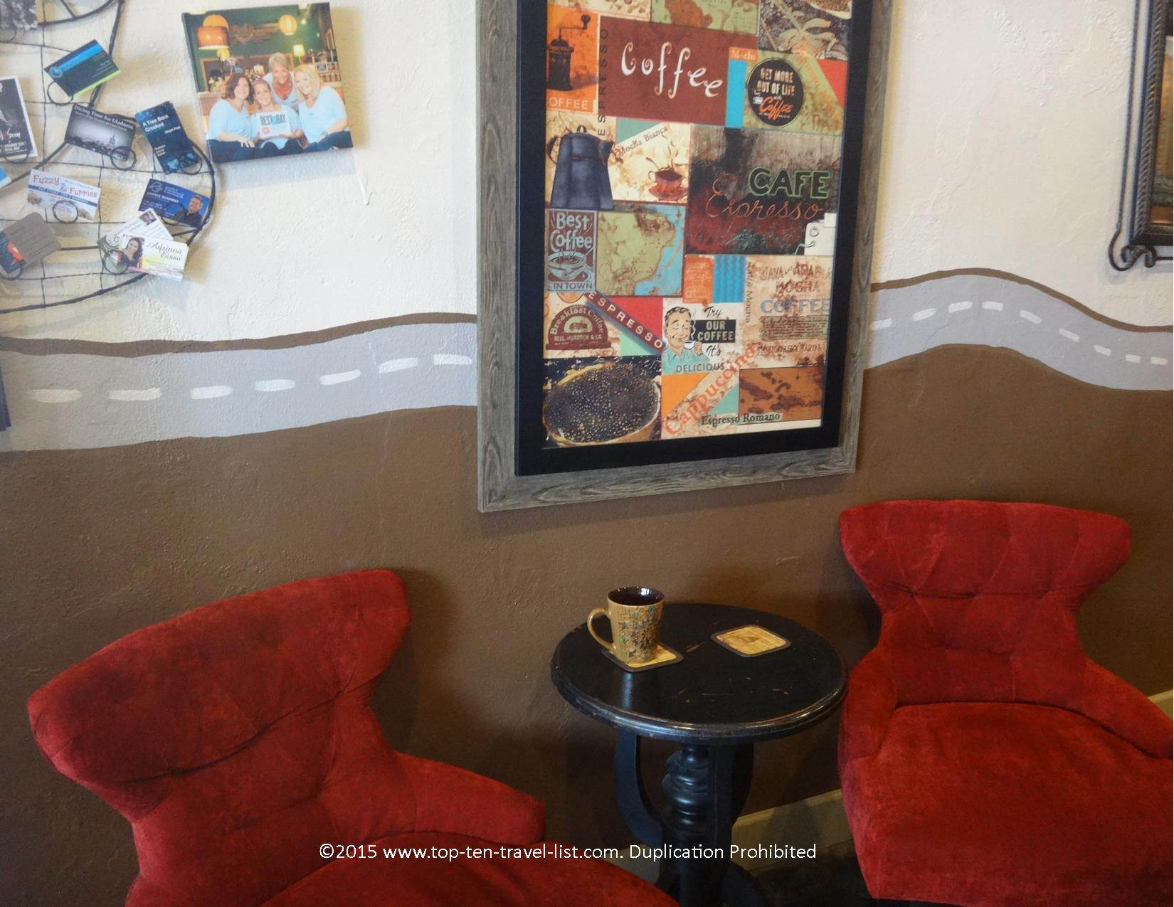 Eclectic decor at Brew D'Licious in St. Petersburg, Florida