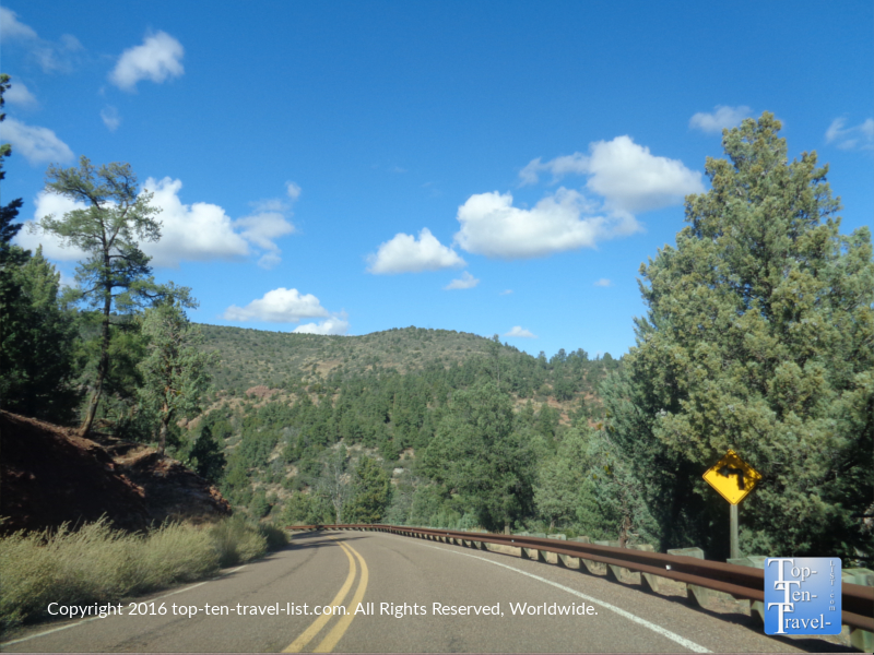 A scenic drive near Payson Arizona