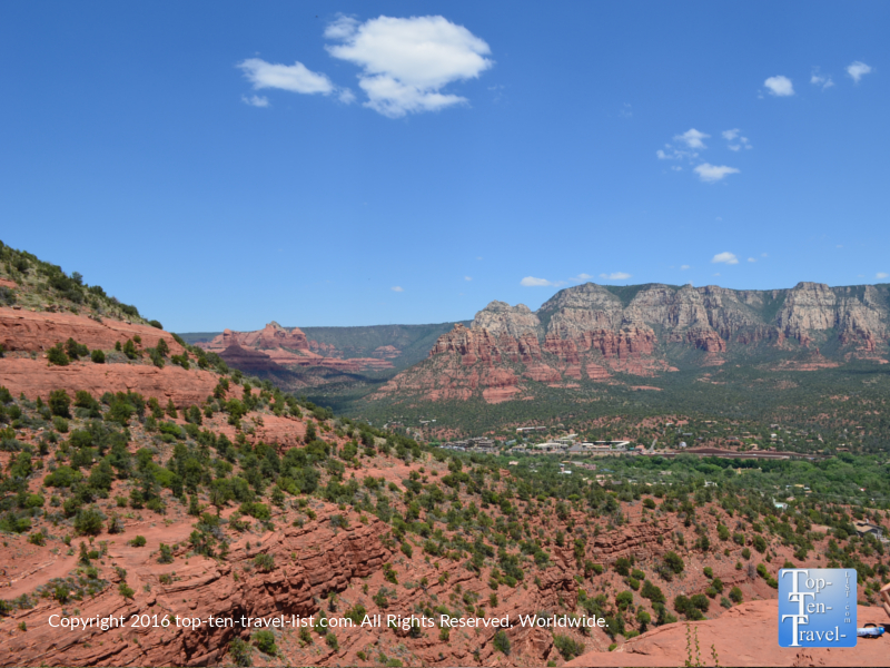 Great views from the summit of the Airport Mesa loop hiking trail in Sedona, Arizona