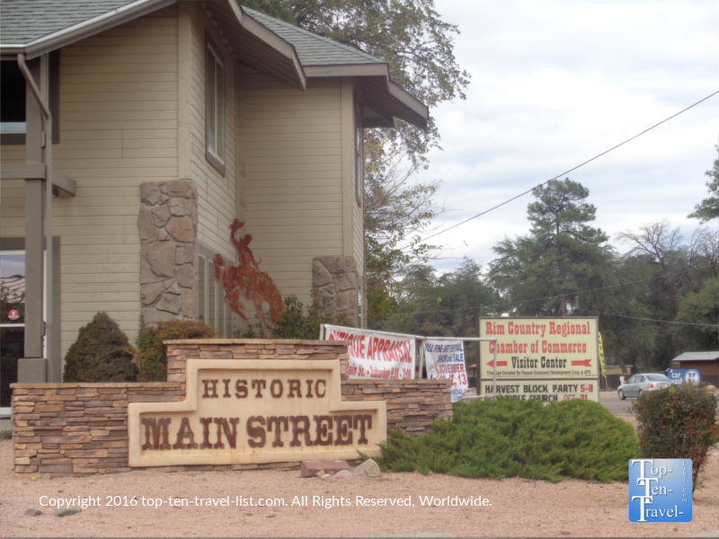 Historic Main St in Payson Arizona
