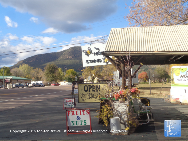 Honey Stand in Pine Arizona