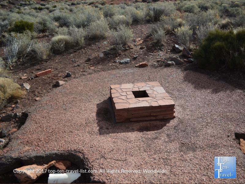 Rare blow hole at Wupatki National Monument