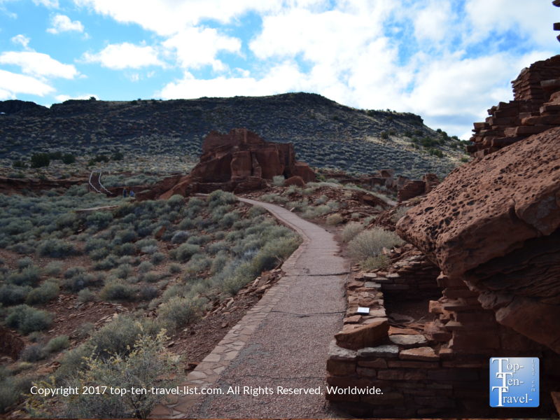 Trail at Wupatki National Monument in Northern Arizona