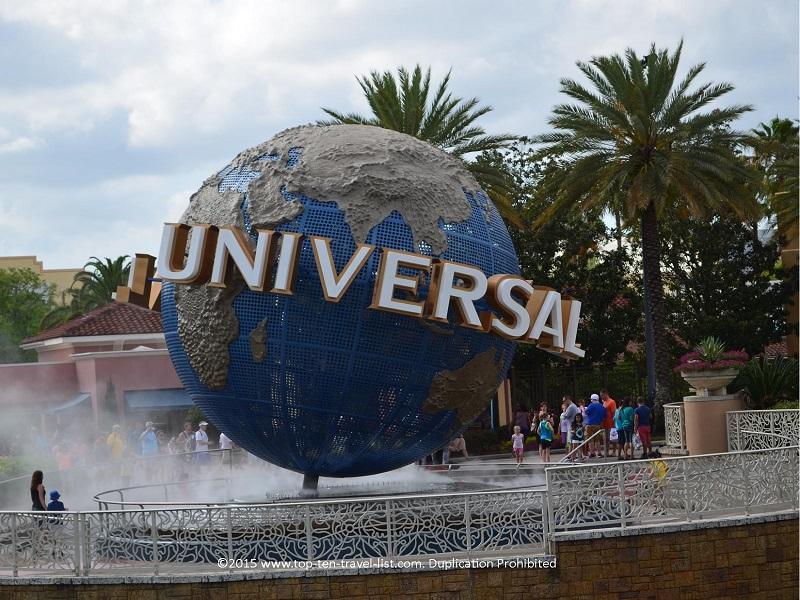 Universal globe at Universal Studios in Orlando, Florida