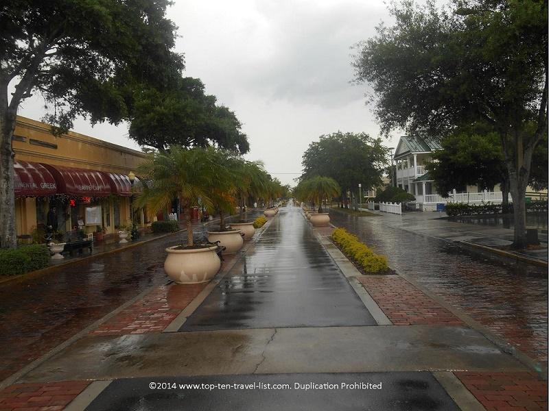 A view of downtown Tarpon Springs, Florida