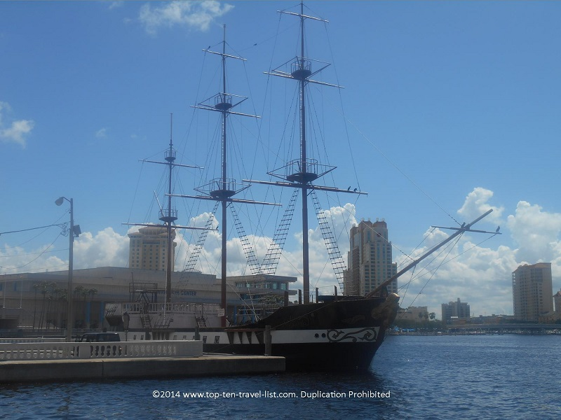 Gasparilla pirate ship in downtown Tampa
