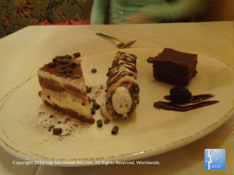 A fantastic dessert sampler at Cucina Rustica in Sedona AZ