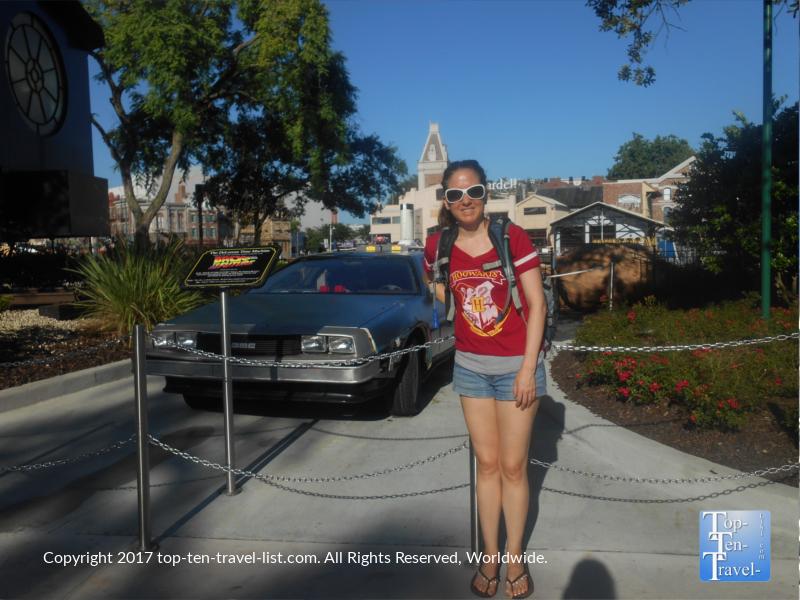 Back to the Future Delorean car at Universal Studios in Orlando FL