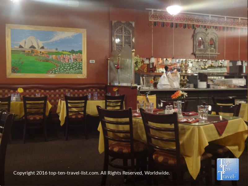 Beautiful dining room at Delhi Palace in Flagstaff, Arizona