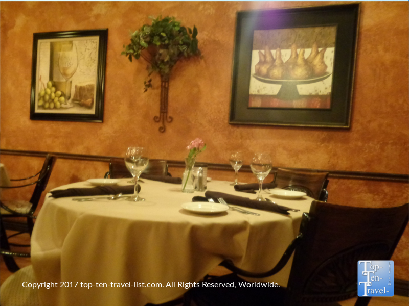 Beautiful dining room of Bella Vita in Sedona AZ