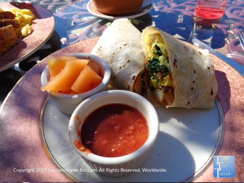Breakfast burito at Heartline Cafe in Sedona AZ
