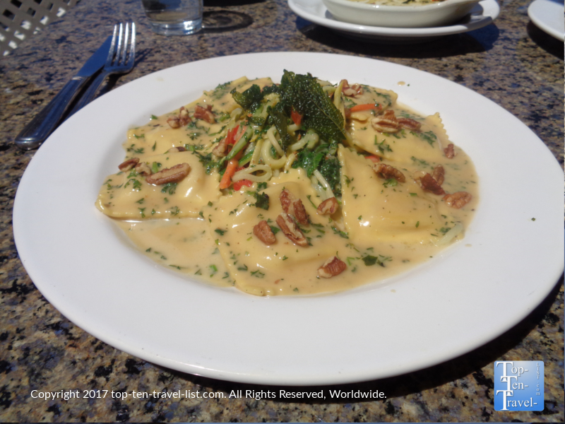 Butternut squash ravioli at The Hudson in Sedona AZ