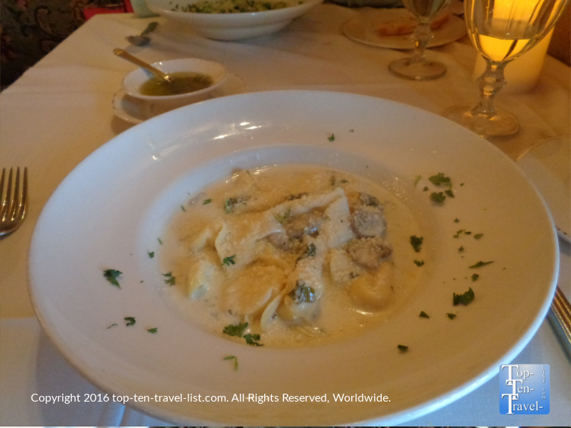 Tortelloni con Funghi Tartufo at Cucina Rustica in Sedona, Arizona