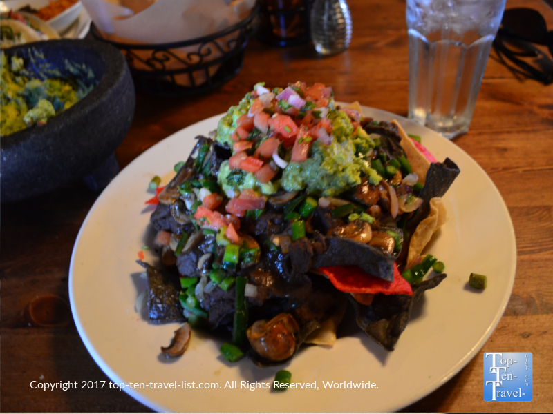 Chicken nachos at Barking Frog Grille in Sedona AZ
