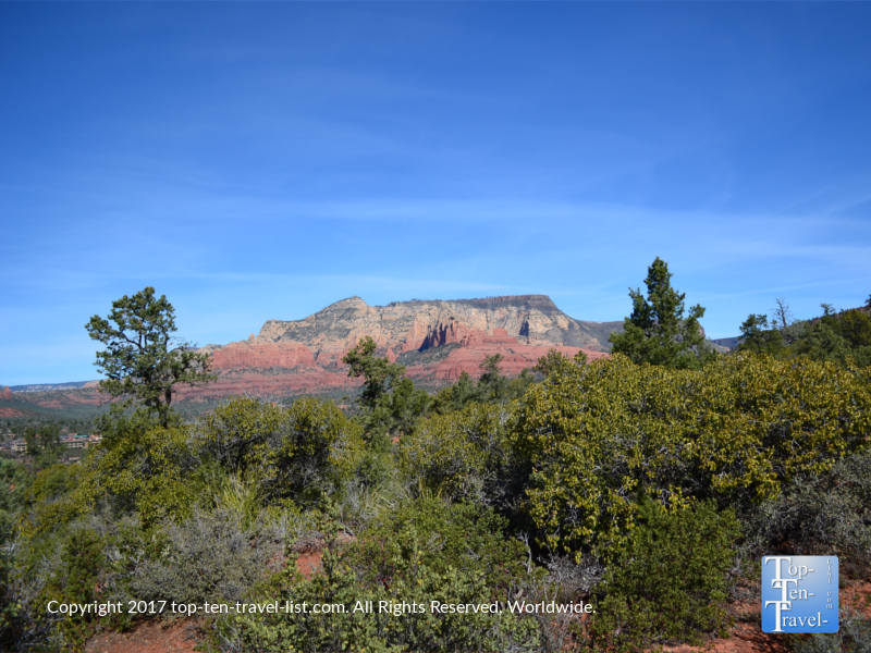 Colorful red rock views along the Marg's Draw trail in Sedona AZ