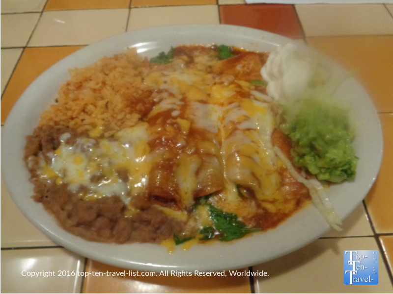 Enchiladas at Mileys Cafe in Sedona AZ