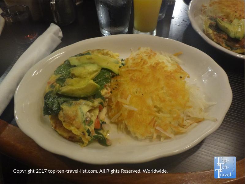 Garden omelet at Horsemen's Lodge in Flagstaff AZ