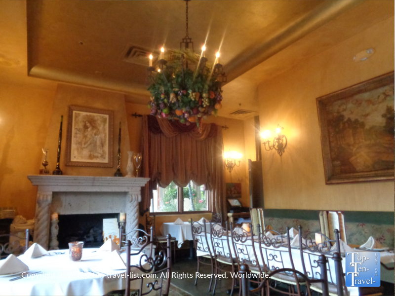 Gorgeous dining room at Cucina Rustica in Sedona, Arizona