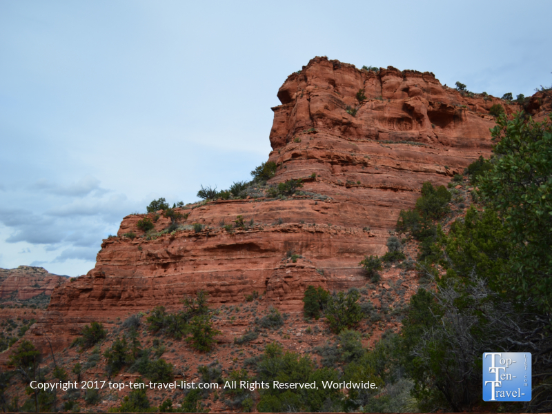 Great red rock views along the Doe Mountain trail in Sedona AZ