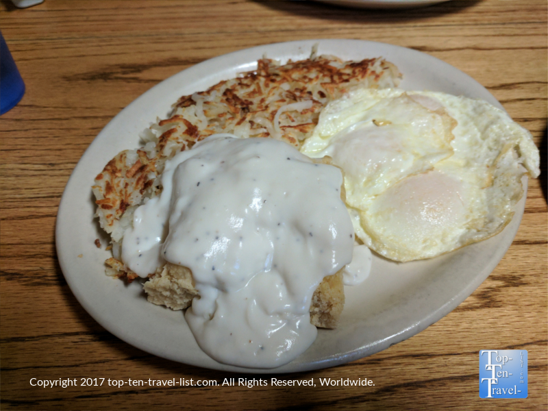 Hungry man breakfast plate at Downtown Diner in Flagstaff AZ