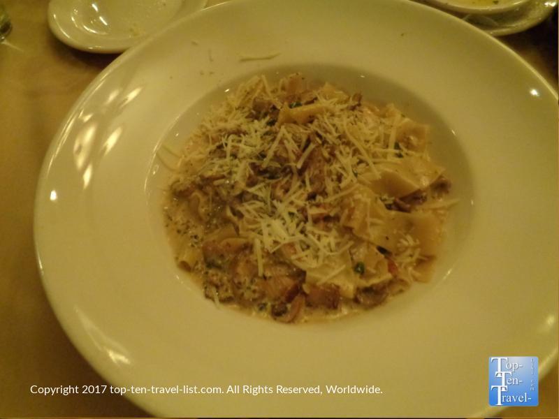 Mushroom pasta at Bella Vita in Sedona AZ