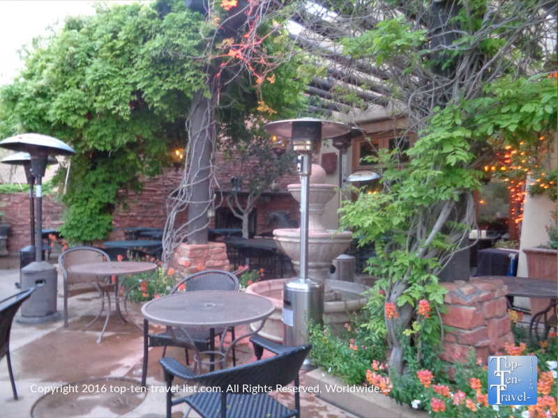 Outdoor patio at Cucina Rustica in Sedona AZ