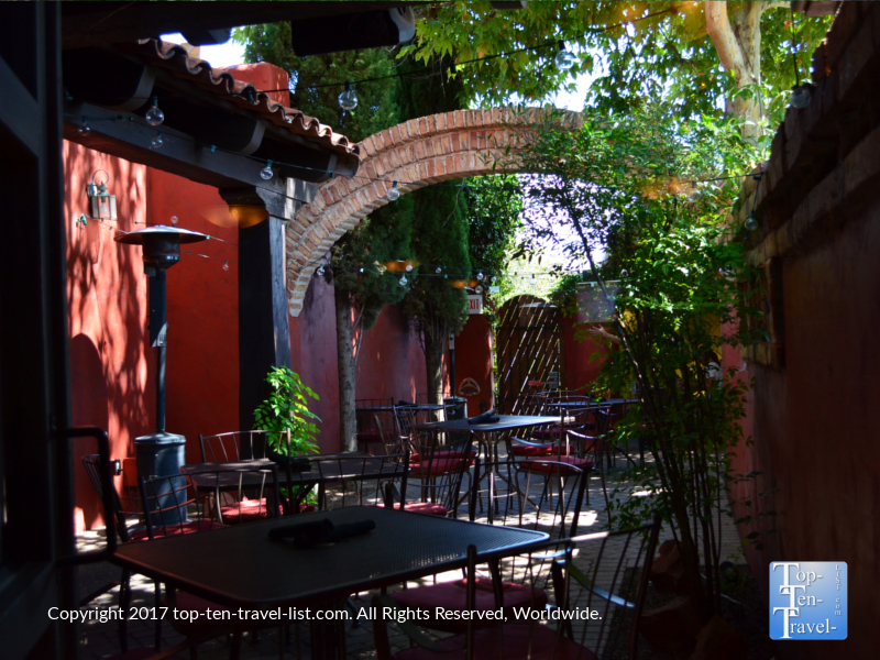 Patio at Barking Frog Grille in Sedona AZ