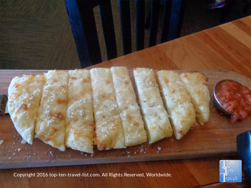 Gluten free cheese bread at Picazzo's Organic Italian Kitchen