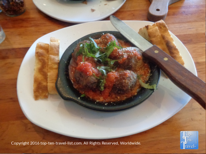 Meatball appetizer at Picazzo's Organic Italian Kitchen