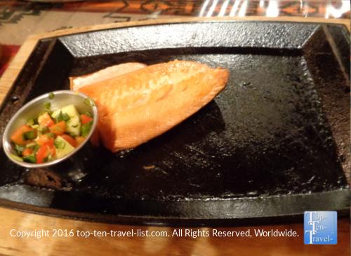Salmon at Horsemens Lodge in Flagstaff AZ