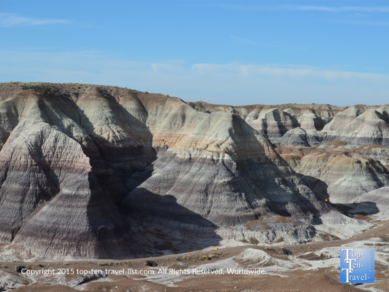 Scenic views of the Painted Desert from the Petrified National Forest