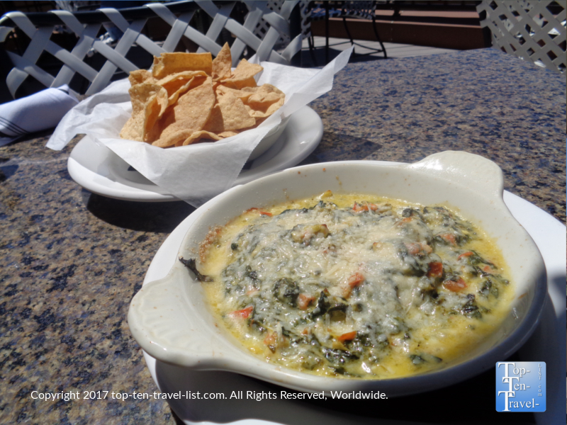 Spinach artichoke dip at The Hudson in Sedona AZ