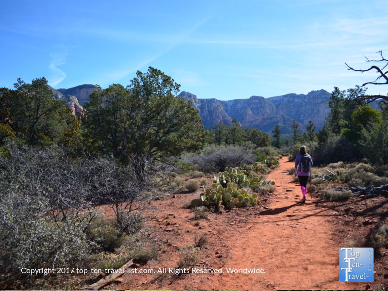 Strolling the Marg's Draw trail in Sedona AZ