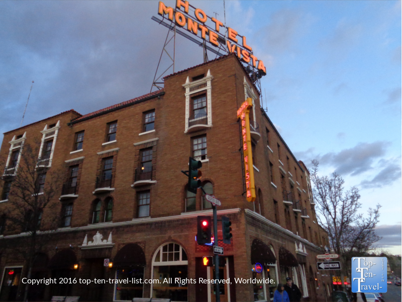 The historic hotel Monte Vista in downtown Flagstaff AZ