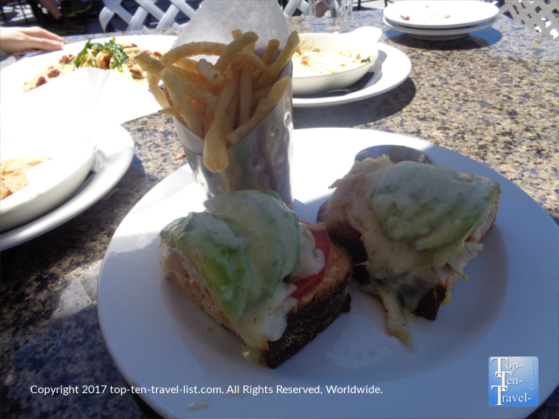 Turkey burger at The Hudson in Sedona AZ