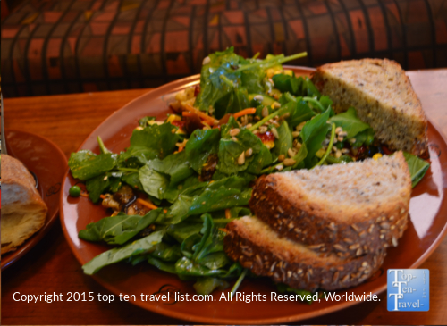 Veggie V12 salad at Wildflower Bread Co in Flagstaff, Arizona