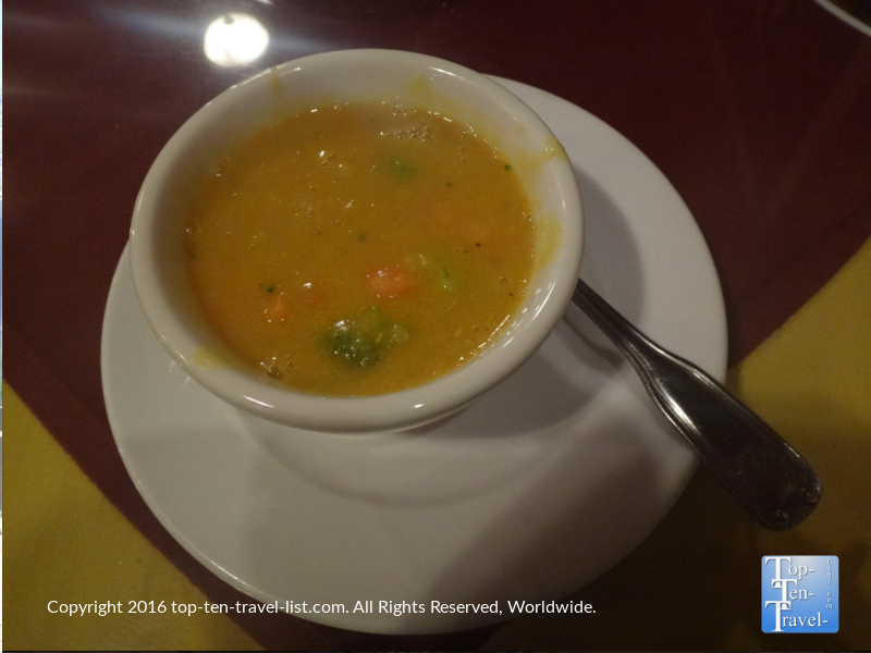 Veggie soup at Delhi Palace in Flagstaff, Arizona