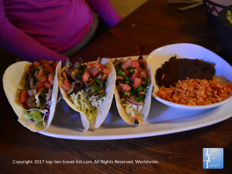 Veggie tacos at Barking Frog Grille in Sedona AZ