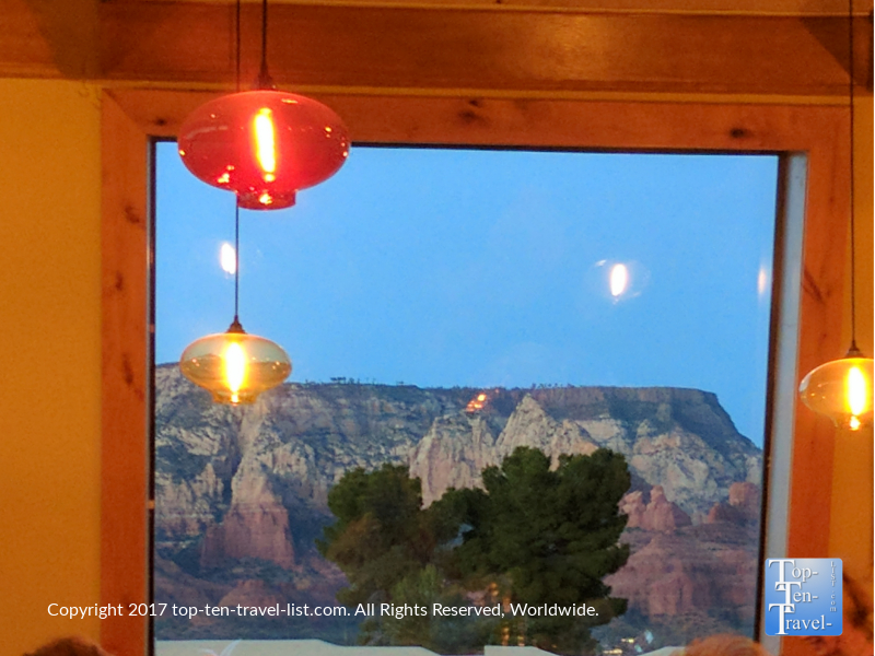 Views of the red rocks from Elote Cafe in Sedona AZ