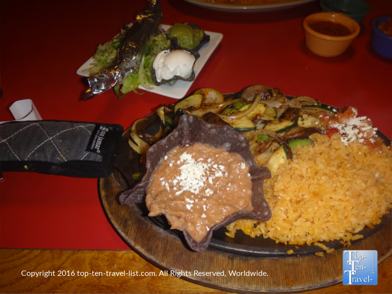 Fajitas at Salsa Brava in Flagstaff, Arizona