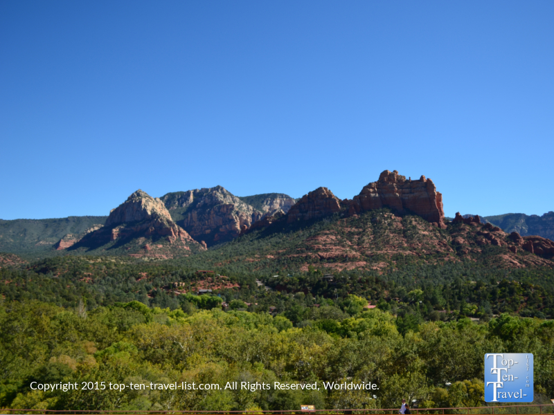 Incredible views from Wildflower Bread in Sedona, Arizona