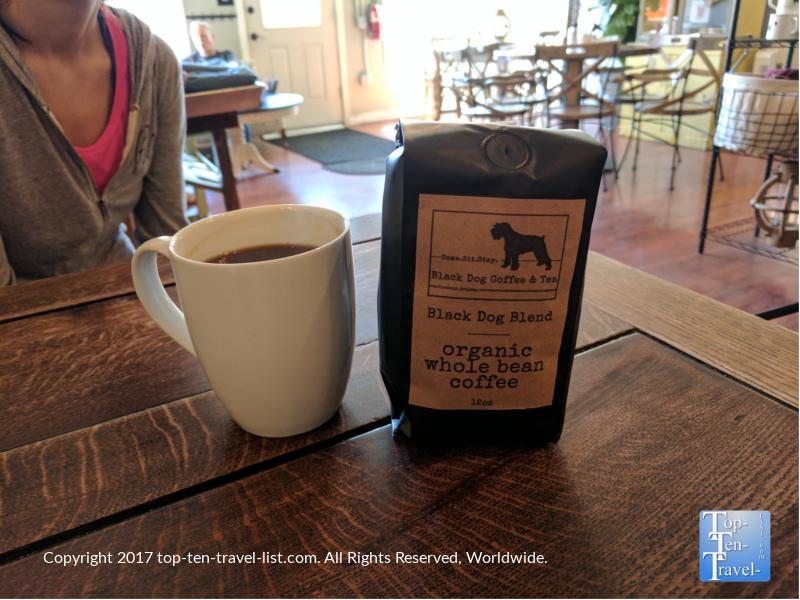 A delicious Americano at Black Dog Coffee in Prescott