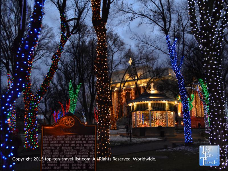 Prescott, Arizona courthouse Christmas Lights
