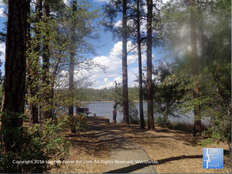 Woodsy path along the Lakeshore Trail in Prescott, Arizona