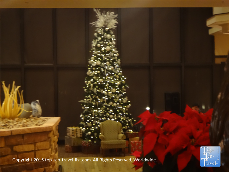 Christmas decor at the Prescott Resort and Conference Center