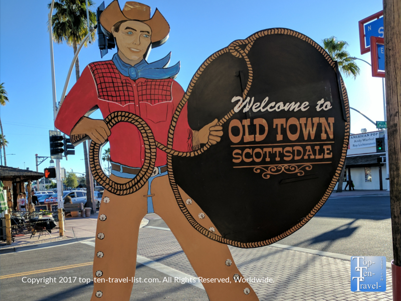 Cowboy Old Town Scottsdale sign