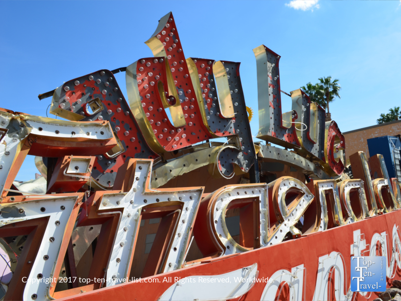 Lady Luck Vegas Vacation sign at the Neon Museum in Las Vegas NV