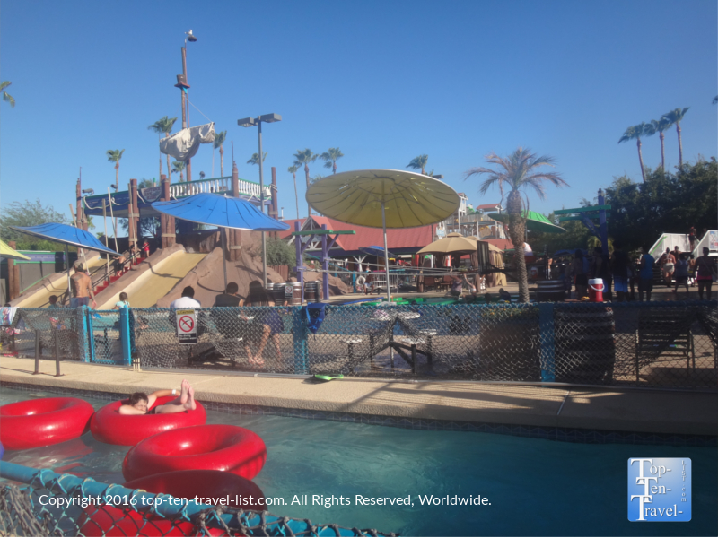 Lazy river at Sunsplash waterpark in Mesa, Arizona
