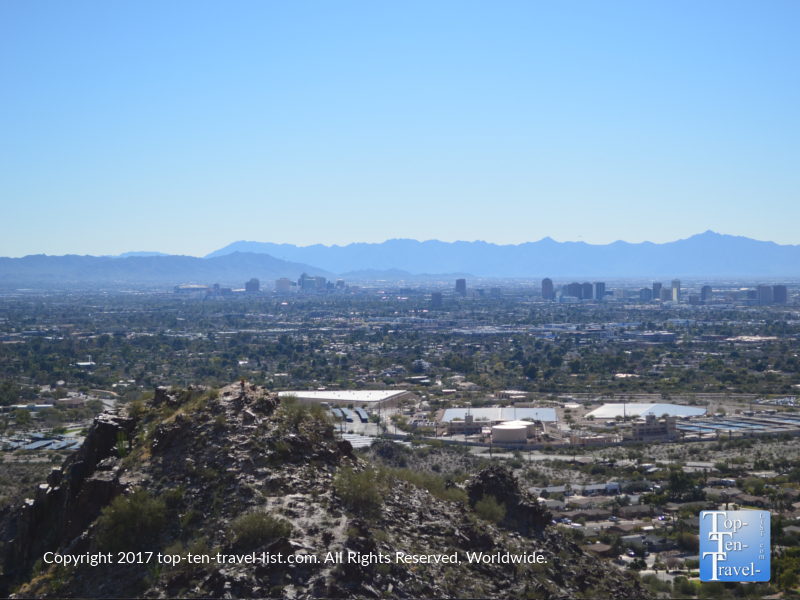 Nice views of the city from the Piestewa Peak trail in Phoenix