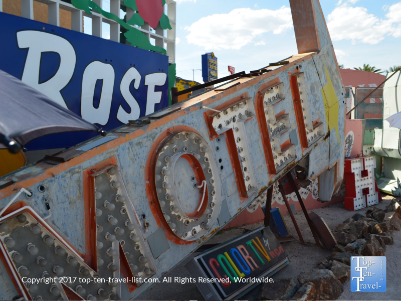 Old motel sign at the Neon Boneyard in Las Vegas NV
